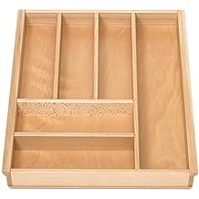 Bambus mit Korkeinlage ausziehbar von 35-58 cm Kesper 1708613 Variabler Besteckkasten