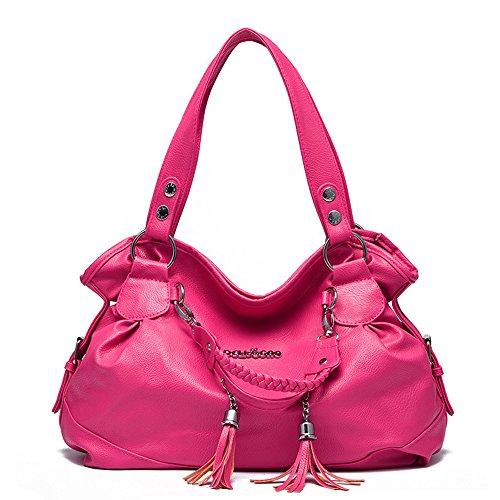 Myleas Donna Borsa a Tracolla Borsetta Shopper Borse Rose