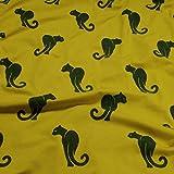 Stoff Baumwolle Single Jersey limettengrün Panther Flock