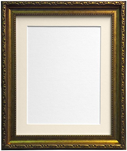 Frames By Post Shabby Chic Bilderrahmen, plastik, gold, 50 x 40 cm Image Size 16 x 12 Inches (Plastic Glass)