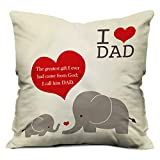 I Love Dad Relation Printed Text Cushion...