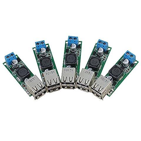 Cnbtr 5V 3A Double sortie USB DC convertisseur et Step Down Converter module d'alimentation Tension Step-Down module, multicolore, CNBTR80