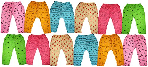 Kifayati Bazar Kid's Cotton Pyjama (Pack of 12, Multicolour)