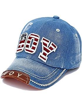 Cappellini Baseball Cappello Denim Bambino Bambini Bambine