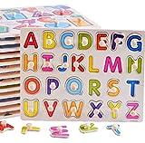 PvxgIo Juguete de la Primera Infancia Tablero Preescolar de Madera del Rompecabezas de la Forma de la Palabra para el Rompecabezas Educativo de los niños