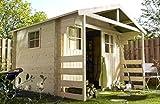 Alpholz Gerätehaus Lier aus Fichten-Holz 300 x 240cm | Gartenhaus Klein inkl. Dachpappe | Geräteschuppen naturbelassen Ohne Farbbehandlung