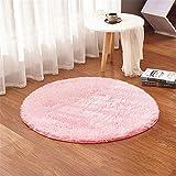 linyingdian 120cm (4-Feet) Runde Teppiche super weiches Wohnzimmer Schlafzimmer Home Shag Teppich (Rosa)
