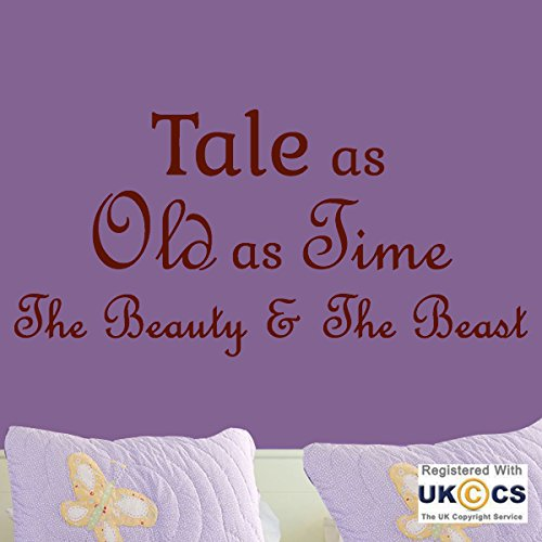 Tale Old Time Beauty Beast Quote Fairytale Wall Art Stickers Decal