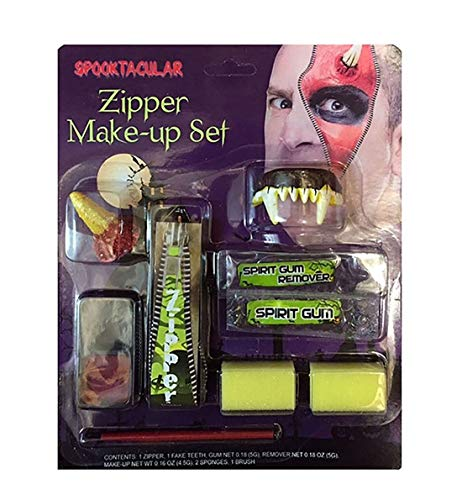 Islander Fashions Halloween Scary Assorted Zipper Schatulle Vampir Make-up Face Paint Kit Zubeh�r Assorted Zipper Kit One Size