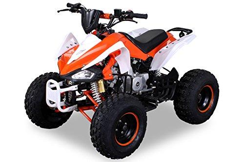 Kinder Quad S-14 125 cc Motor Miniquad 125 ccm orange/weiß Speedy