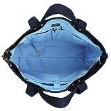 BONTHEE Canvas Tote Bag Handbag Women Large Shoulder Bag Travel Work for Laptops up to 13.5 Inch - Blue