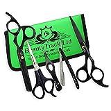BeautyTrack professionelle Friseurschere - Haarschneideschere - Friseur Wahl - Schnurrbart Schere - alles in einem Set von 5 Stück
