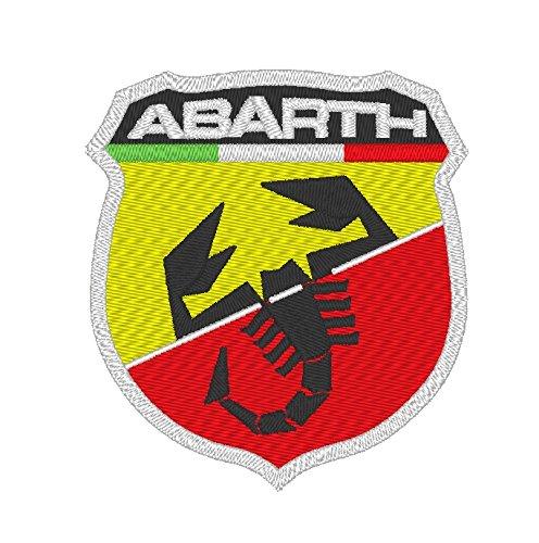 Abarth Fiat Ricamato Polo Fun Poloshirt, super Premium-Qualität, 100% cotone -096 Orange