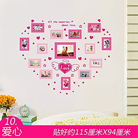 Wall Stickers Removable Self Adhesive Bedroom, Children Room Decoration Cartoon Photo Frame Photo , 10