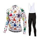 Ldd-qxf Traje de Jersey de Manga Larga de Nivel Profesional de competición para Hombres Ropa de Ciclismo del Tour de Francia de Primavera y otoño (Color : Blanco, Tamaño : XL)