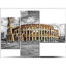 Art-Gallery XXL–100x 70cm–Le Majestueux del Coliseo–Reloj de pared cuadro–Deco moderno–New Design