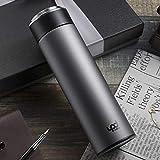 YZGS Cáliz masculino femenino alto acero inoxidable estudiante vacío comercio adulto taza de té 450ml/Pistola de plata gris
