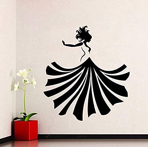 Wandaufkleber Beauty Lady Vinyl Aufkleber Girl Dance