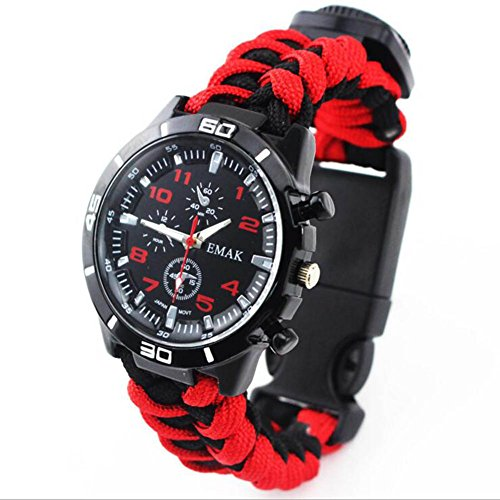 Herrenuhren Outdoor Life Watch Multifunktions-Armbanduhr Compass Flint Start Watch ( Style : J )