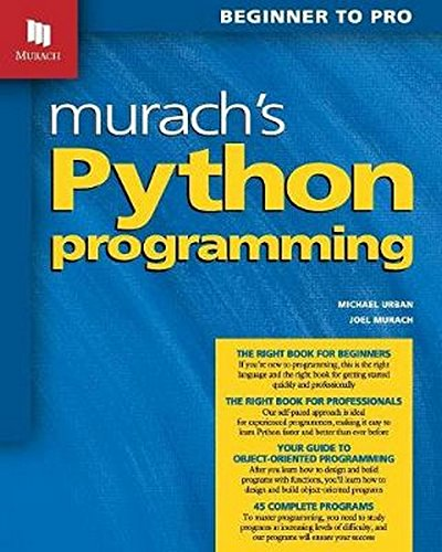 popular download books pdf Murach's Python Programming by