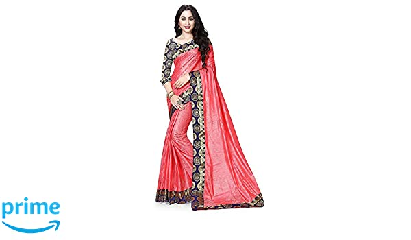 01dab26eb472a Widespread Collection Brasso Saree (Wdd001 Navy Blue )  Amazon.in  Clothing    Accessories