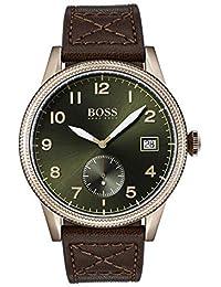df2dcab0f94d Hugo Boss Reloj Analógico para Hombre de Cuarzo con Correa en Cuero 1513669