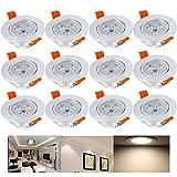 Hengda® 12 x 3W Warmweiß Alu-matt LED Einbauleuchte Deckenbeleuchtung SMD