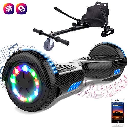 """GeekMe Elektro Scooter Self Balancing Scooter 6.5\"""" Segway Geschenk für Kinder und Erwachsene -UL2272 Sicherheitszertifizierte Bluetooth-Lautsprecher LED-Leuchten 700W"""