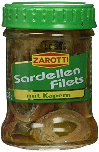 Zarotti Sardellen- filets m.Kapern in, 12er Pack (12 x 65 g)