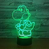 Yoshi Mario 3D LED USB Licht Cartoon Spielfigur Acryl Roman Weihnachtsbeleuchtung Geschenk RGB Touch Fernbedienung Spielzeug