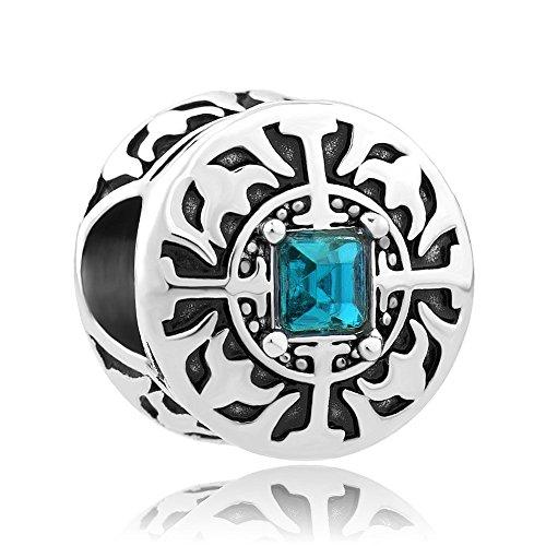Nuovo charm pietra natale a croce di uniqueen jewellery in vendita. beads economici adatti ai braccialetti in stile pandora., base, colore: green, cod. uq_dpc_my792_x12