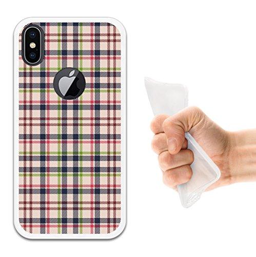 iPhone X Hülle, WoowCase Handyhülle Silikon für [ iPhone X ] Cannabis Schädel Handytasche Handy Cover Case Schutzhülle Flexible TPU - Transparent Housse Gel iPhone X Transparent D0533