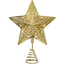 WeRChristmas Star Christmas Tree Top Topper Decoration, 30 cm - Gold