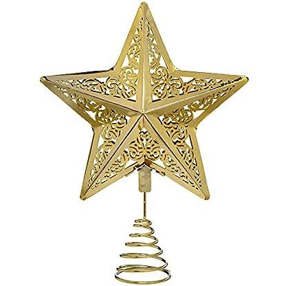 WeRChristmas-Star-Weihnachten-Weihnachtsbaumspitze-Dekoration