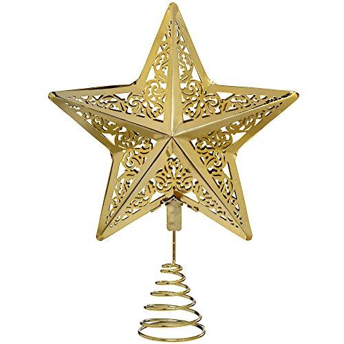 Puntale A Stella Per Albero Di Natale.Werchristmas Decorazione Natalizia A Forma Di Stella 30 Cm Con