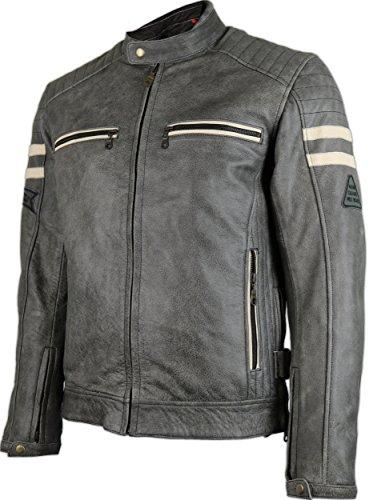 Herren Motorrad Retro Lederjacke (4XL)