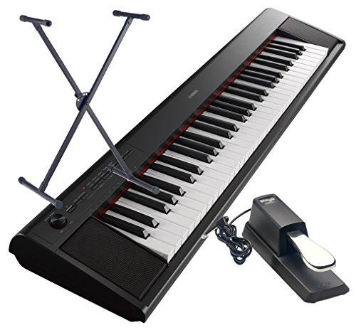 Keyboard-Yamaha-NP-12-B-im-Set-mit-Stnder-und-Pedal