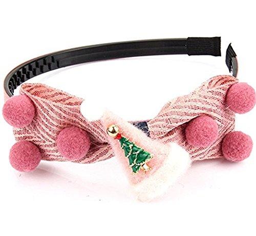 Cuhair (tm) 1pc Noël Ribbon Bow pour cheveux barettes de pince à cheveux broches accessoires pour cheveux pince à cheveux femmes Teens filles