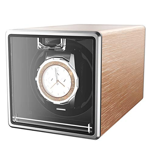 3a95f0594 CRITIRON Automatic Watch Winder Case for 1 Watch Rotating Watches Storage  Display Box Metal (Rose