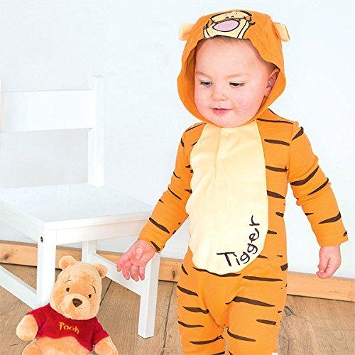 Baby 's Kleinkind Tigger Winnie Pooh Strampler Kostüm (Pooh Und Tigger Halloween Kostüme)