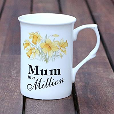 Fine Bone China Mug - Mum in a Million - Daffodils