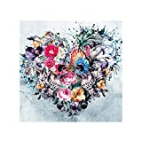Ukallaite Kleid up Your Life Punk Totenkopf Blume Herz 5D Full Diamant Malerei DIY Kreuzstich Wall Decor–Q1161, Canvas, Einfarbig, Q1161