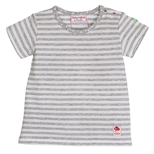 SALT AND PEPPER Baby-Mädchen BG Stripe T-Shirt, Grau (Grey Melange 212), 56