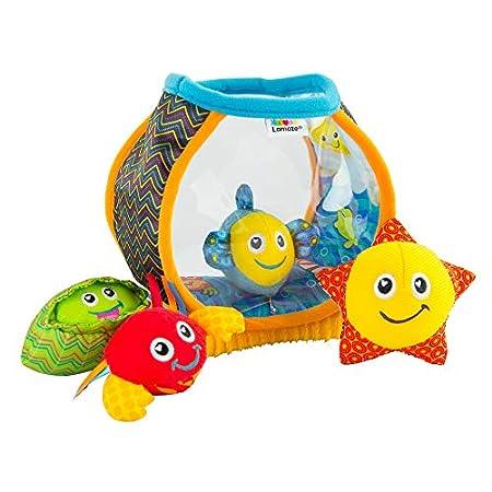 """Lamaze Baby Spielzeug """"Mein erstes Aquarium"""", das hochwertige Kleinkindspielzeug. Das quietschbunte Aquarium mit 4 Kuscheltieren fördert Motorik und ist das perfekte Kinderspielzeug und Kuscheltier"""