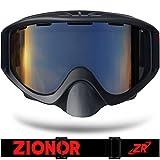 ZIONOR Lagopus S Séries Lunettes de Ski avec Lentille Cylindrique Anti-buée Protection UV400 Peripheral Voir