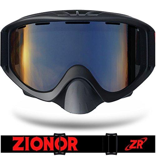 ZIONOR Lagopus S Serie Snowboard Skibrille mit Zylinderlinse Anti-Fog UV400 Schutz Periphere Anzeigen
