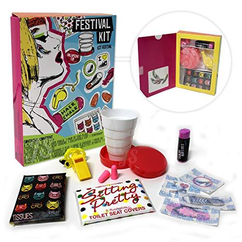 Preis am Stiel Festival Kit | Accessoires | Survival-Kit | Geschenkidee für Frau | Festival Zubehör | Gadgets