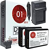 DOT-01 2X Brand Canon EOS 4000D Batteries And Charger For Canon EOS 4000D DSLR And Canon 4000D Battery And Charger Bundle For Canon LPE10 LP-E10