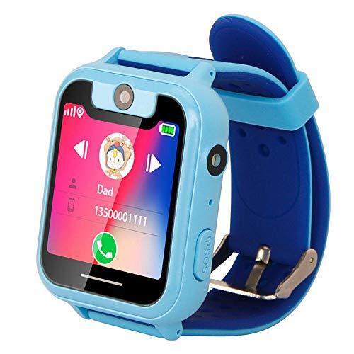 h Für Kinder, Wasserdichter Touchscreen Kinder Smart Watch Telefon Spiele Uhr Mit SOS-Anruf Sprachchat Fernbedienung Kamera GPS Tracker Geschenke Für Mädchen Jungen Kinder ()