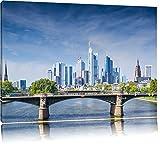 Skyline von Frankfurt am Main Format: 100x70 auf Leinwand,